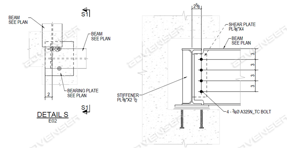 Steel erection drawing