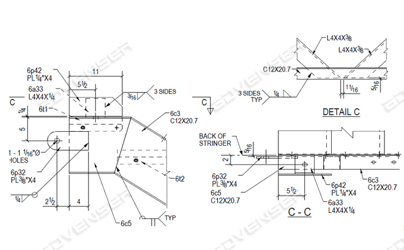 Staircase fabrication drawing