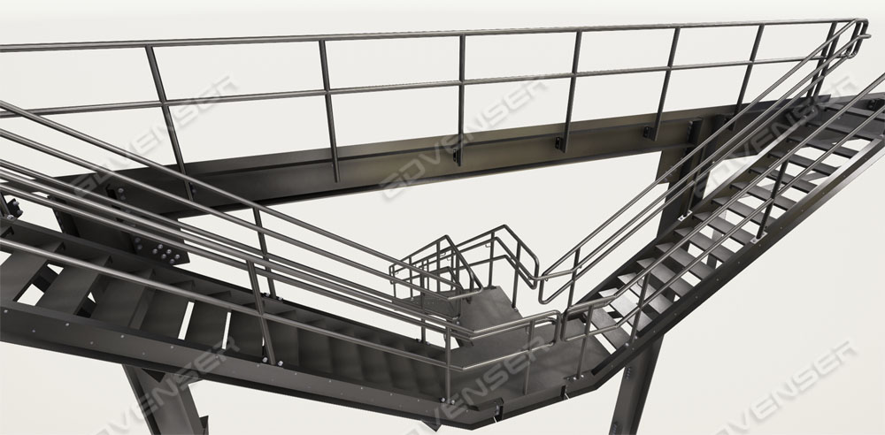 Steel staircase modeling