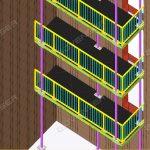 Steel balcony detailing