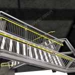 Steel staircase detailing